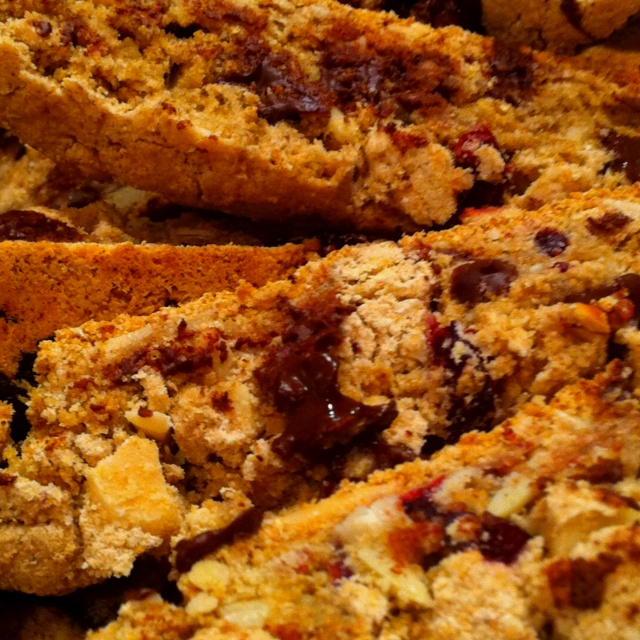 Chocolate Cherry Biscotti Recipe — Dishmaps