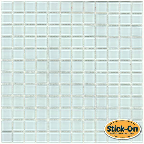 mineral tiles peel and stick clear glass tile classic pure ice 9