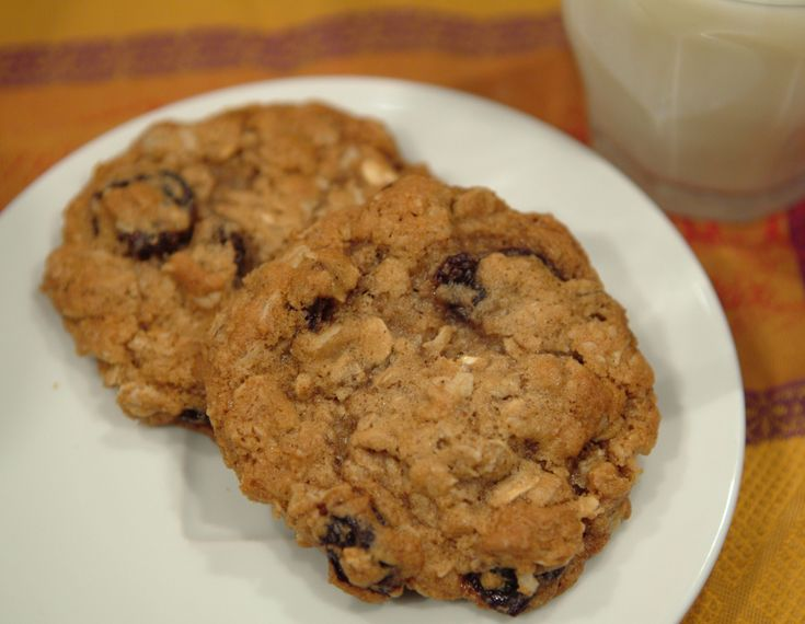 chewy cherry oatmeal cookies- adapted from cooking light