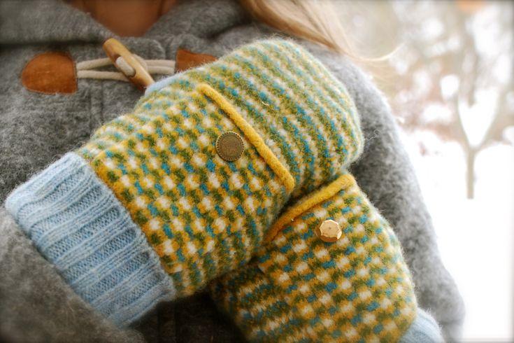and warm woolen mittens