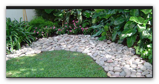 canteros con piedras jardin pinterest