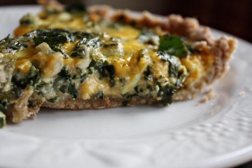 kale and onion tart. | food that is not dessert. | Pinterest