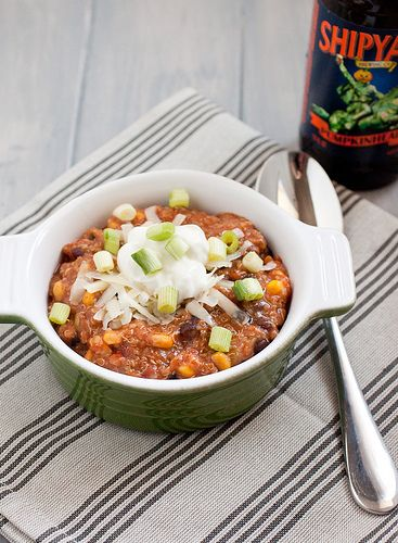 Slow Cooker Vegetarian Quinoa Chili | Recipe