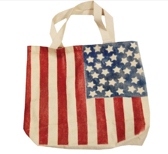 bags made in italy Simply Spray Patriotic Tote  Red  White and Blue