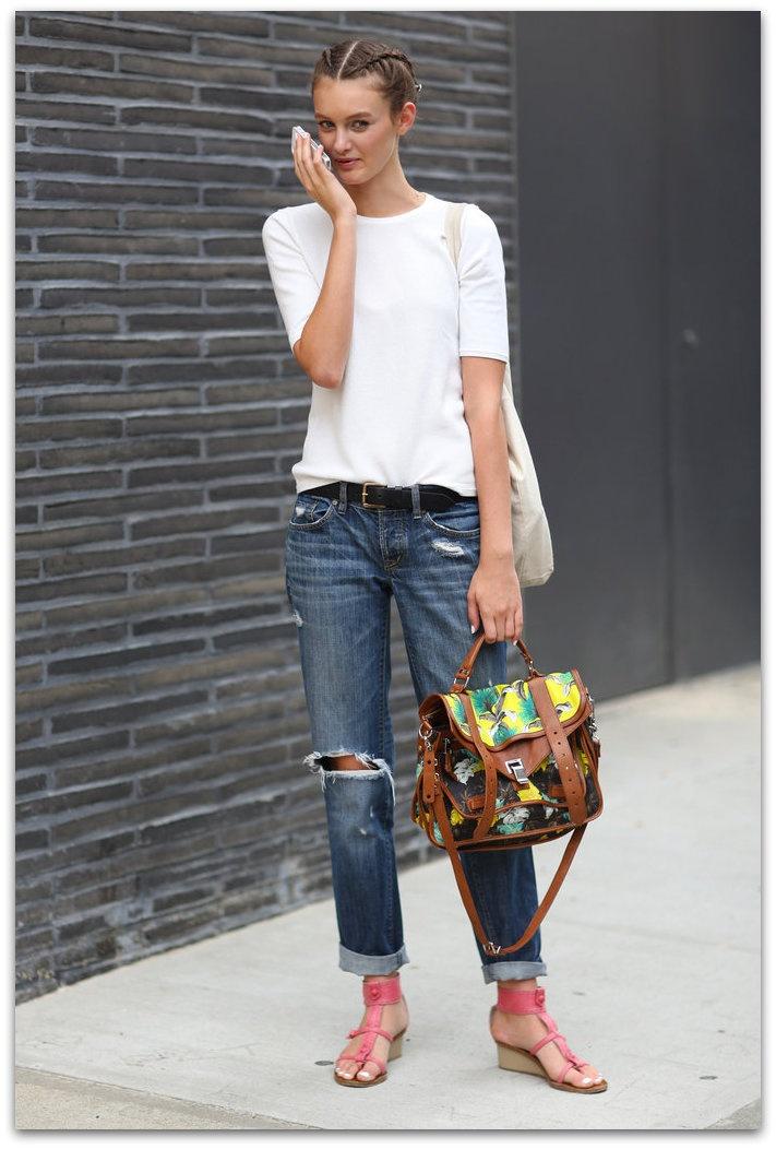 a versatilidade da camiseta branca