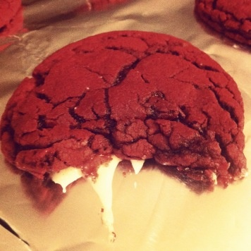 Red Velvet Cheesecake Cookies. (It's a sugar Explosion!)