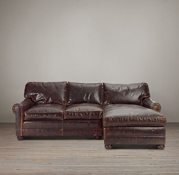 leather sofa chaise sectionals a restoration hardware