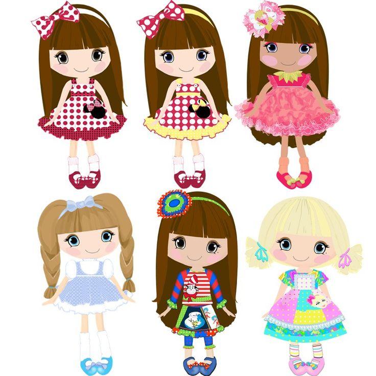 Кукла клипа-цифровой Etsy Клипарт 18png300dpi для коммерческого и личного использования.