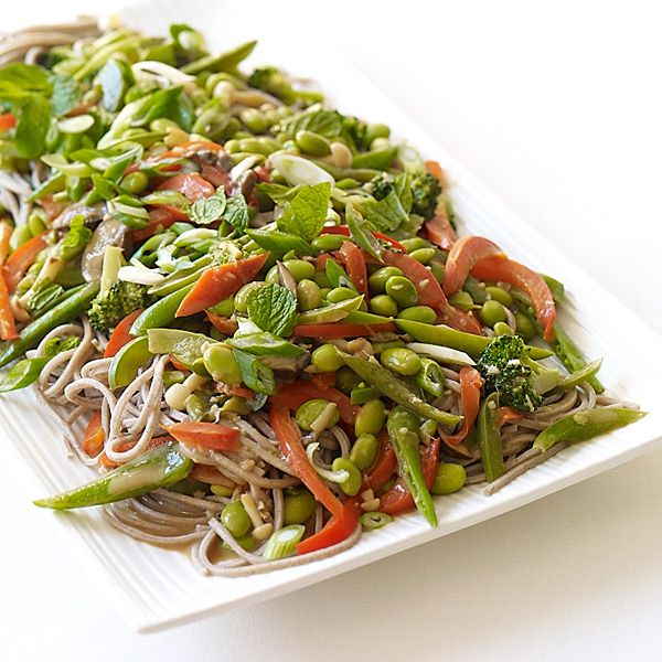 Soba Noodles with Edamame and Vegetables in Peanut Sauce...8 points.