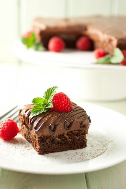 Raspberry Truffle Brownies Recipe — Dishmaps