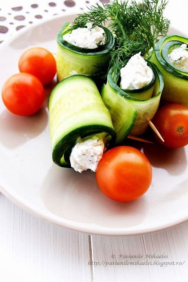Cucumber And Feta Rolls Recipe — Dishmaps