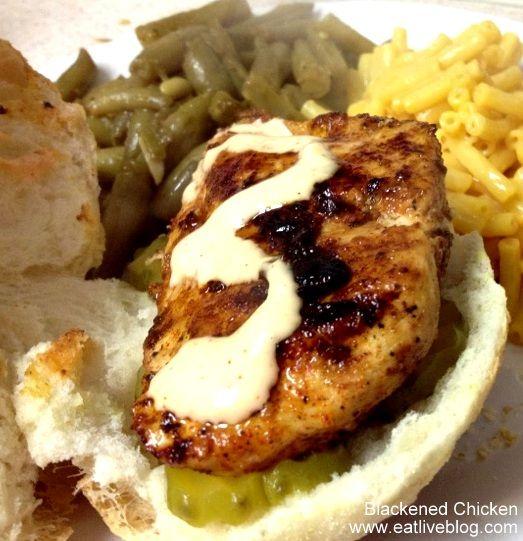 Blackened Chicken Sandwich - delicious! Must make.