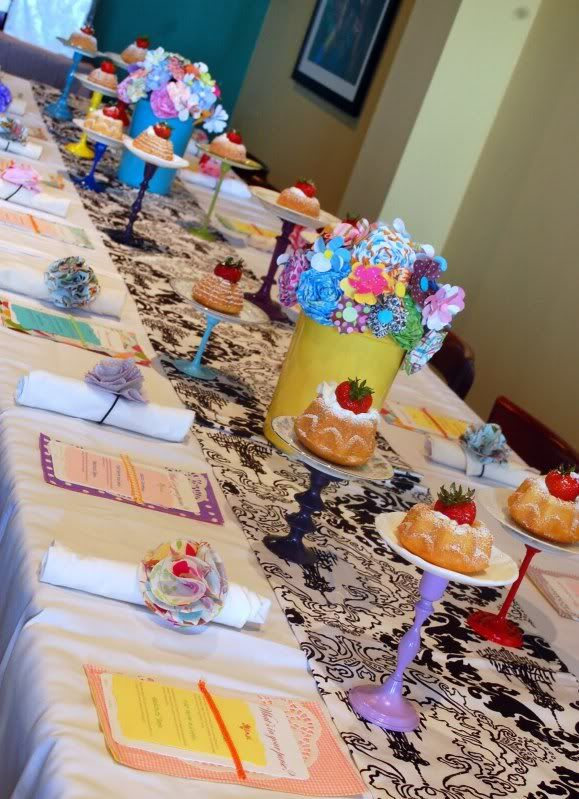 """really like the different little cake stands and every seat has a different """"menu""""...cute all around"""