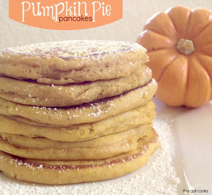 Oh, yum!! :) This Gal Cooks: Pumpkin Pie Pancakes