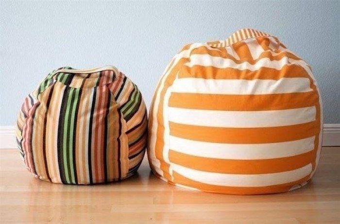 Как сделать пуфик мешок