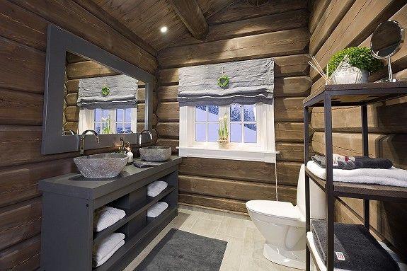 Baderom hytte – Stor badebalje til voksne