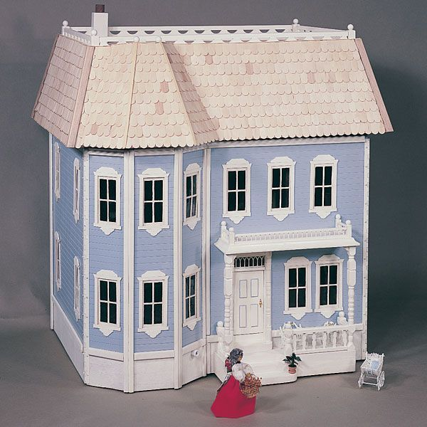 Victorian doll house plan no 671 miniature houses for Victorian doll house plans