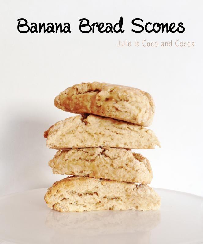 Coco and Cocoa: Banana Bread Scones | breakfast food | Pinterest