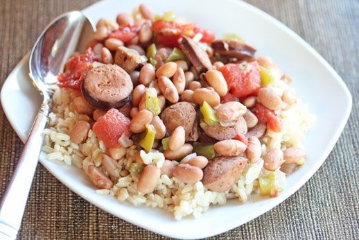 Dirty Rice With Beans And Andouille Sausage Recipe — Dishmaps