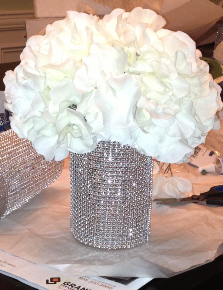 diy bling wedding centerpiece princess wedding. Black Bedroom Furniture Sets. Home Design Ideas