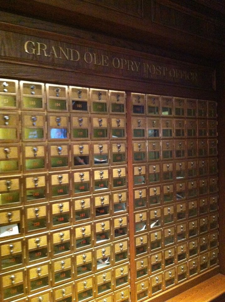 Mailboxes for Opry members fan mail