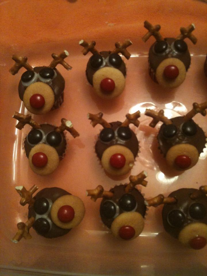 Mini cupcakes reindeer
