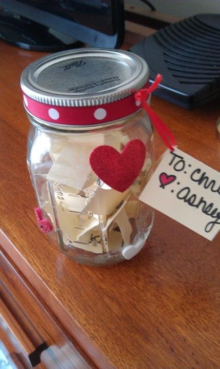 diy valentine's day jar