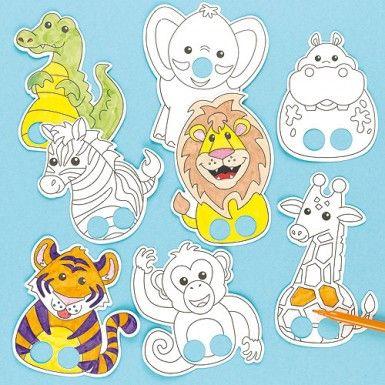 Jungle Animal Finger Puppets | kinderen | Pinterest