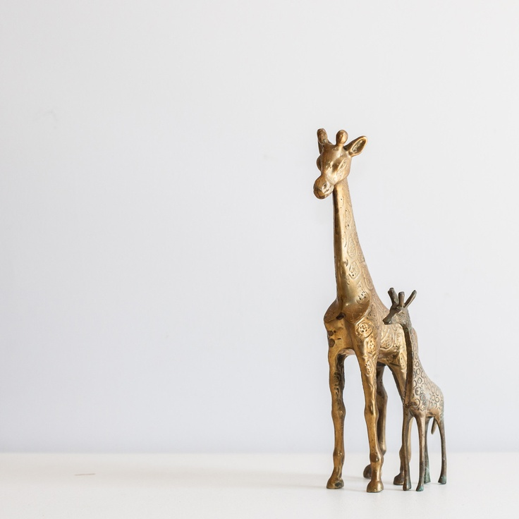 Brass Giraffe Set