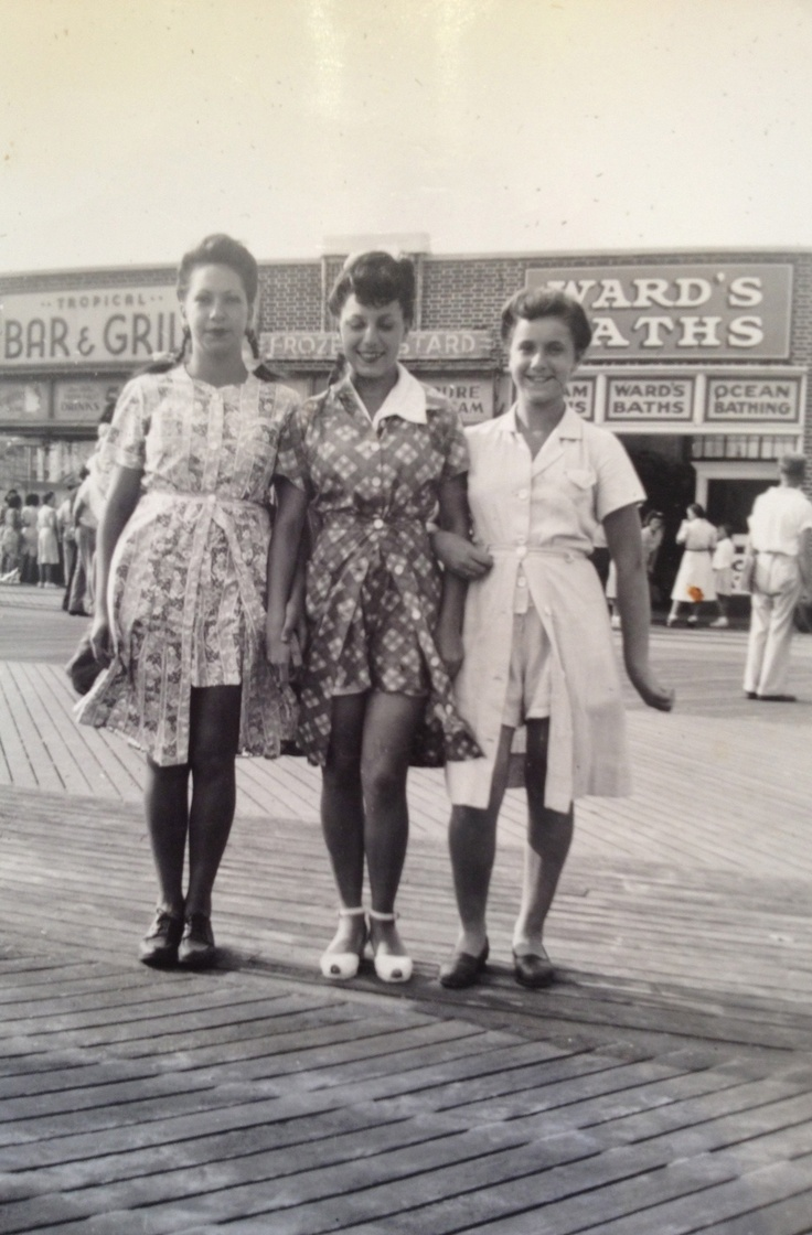 40s playsuits at the boardwalk....