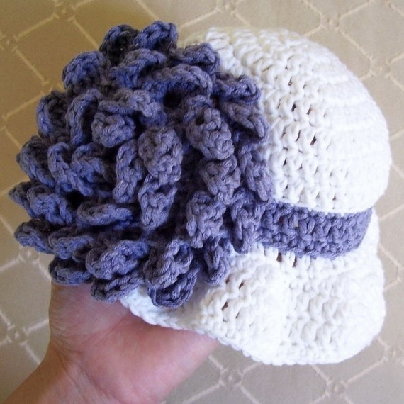 Crochet Pattern For Baby Cloche Hat : Carnation Baby Cloche Hat - Pattern PDF crochet for kids ...