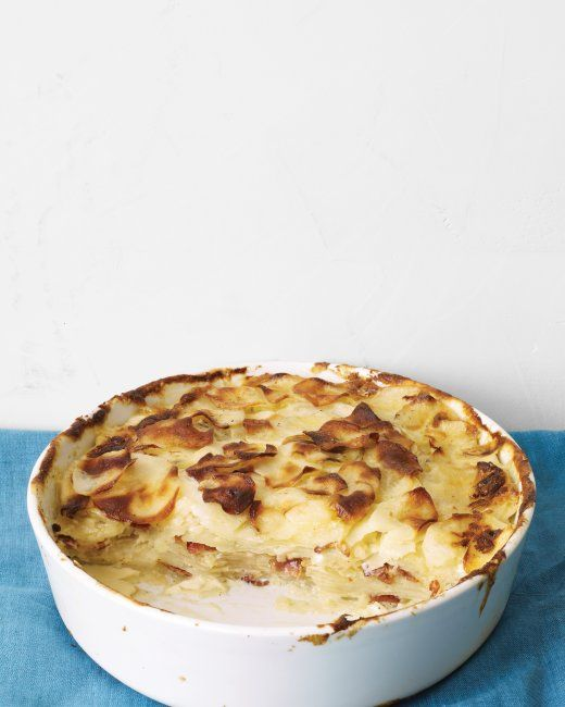 Potato Gratin. Try one of these variations: Place browned bacon or ...