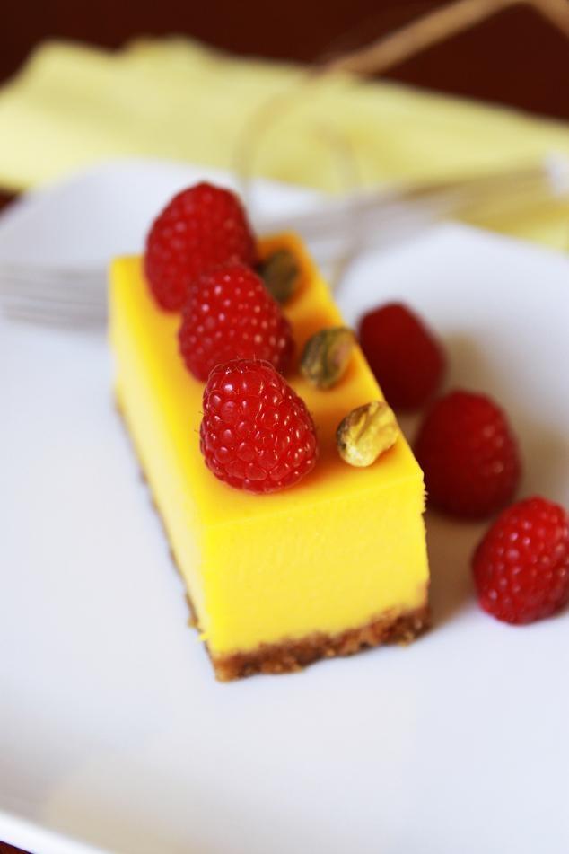 Mango Passion Fruit Cheesecake Gourmet Baking   Desserts/ entremets ...