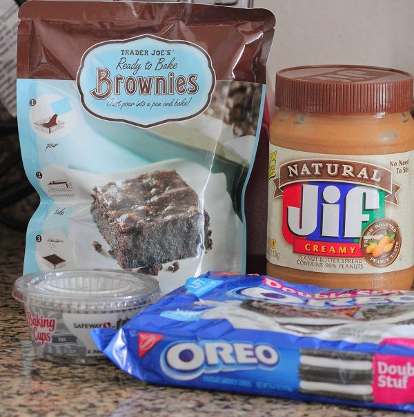 Oreo And Peanut Butter Brownie Cakes Recipe — Dishmaps