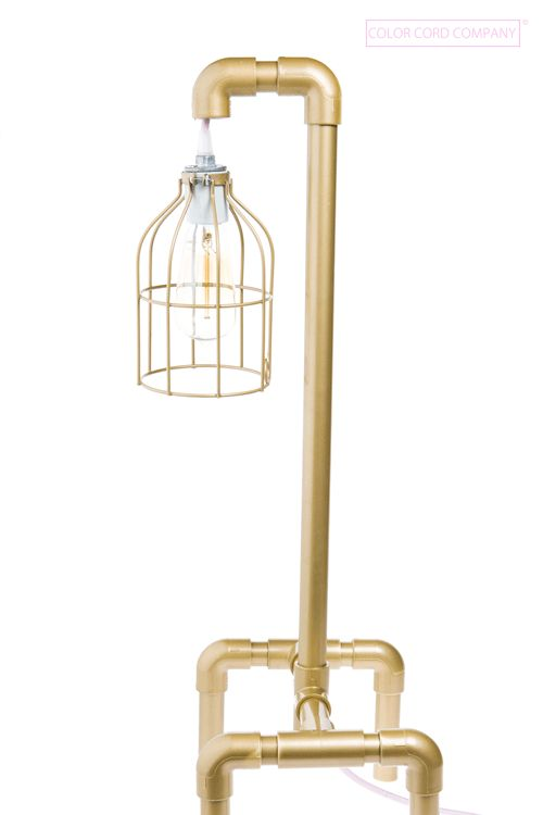 Diy pvc table lamp painted gold pvc pinterest for Pipe lamp plans