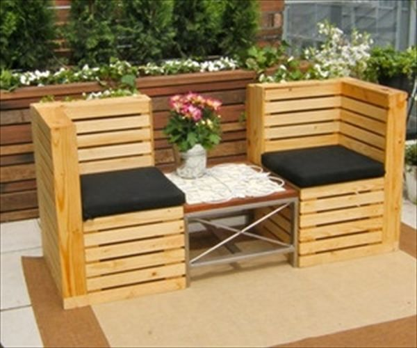pallet patio furniture Google Search Home Pallets