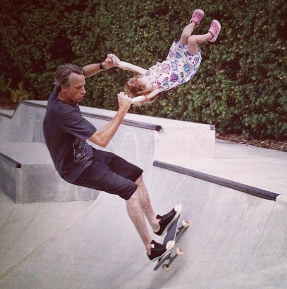 Tony Hawk  amp  daughter  Say what you will - i d trust him and hell  it    Tony Hawk Daughter