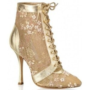 Sergio Rossi gold boots.  <3