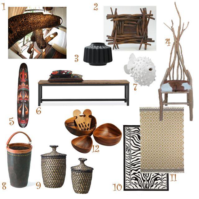 afrikai dekoráció