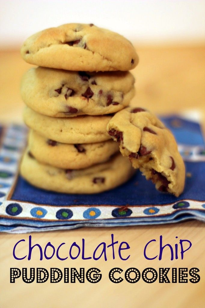 Pudding chocolate chip cookies...yumm-mmy!