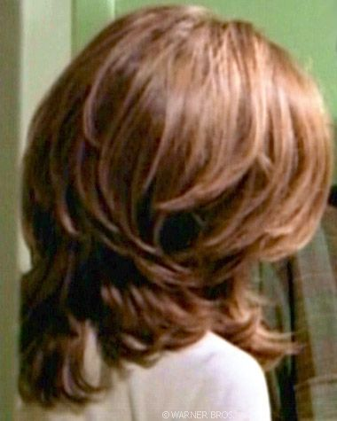 the back of layered hair | jen aniston ingreat hair design