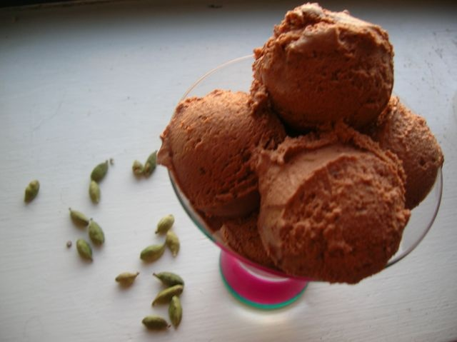 Dark Chocolate Cardamom Ice Cream | In the Summertime | Pinterest