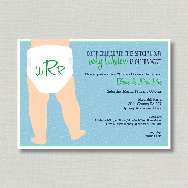 design printable invitation for diaper baby shower by hhdixon