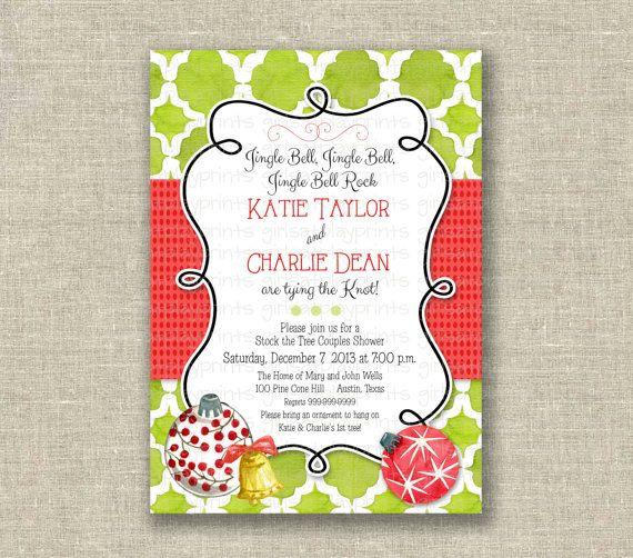 Christmas Bridal Shower Invitation Holiday Jingle by girlsatplay, $12 ...