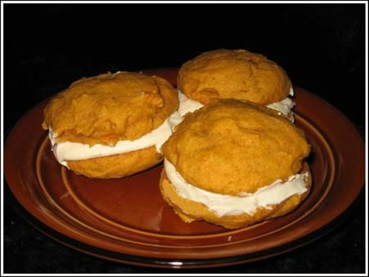Pumpkin Whoopie Pies (with spice cake mix)