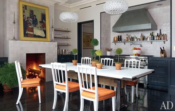 Kitchen of Brooke Shields Architectural Digest