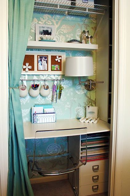 Organizing A Small Home Office Small Home Office Ideas Pinterest