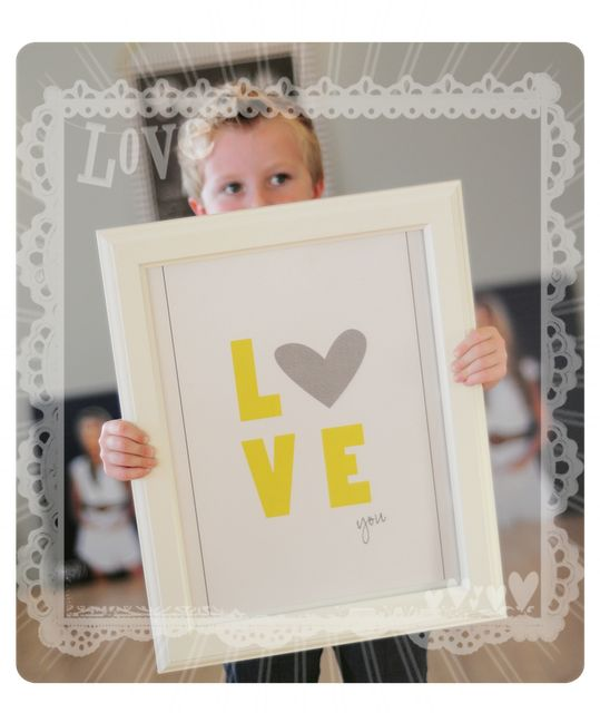"Free 8 x 10 "" 'Love You ' Printable"