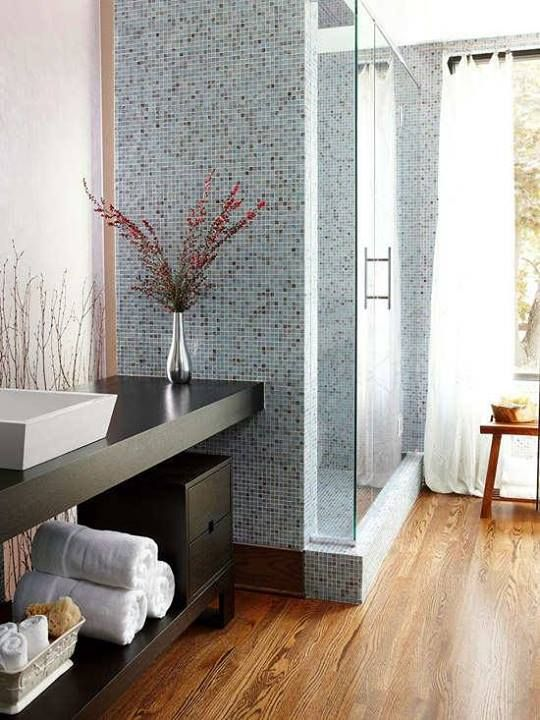 Bathroom Floor To Ceiling Storage : Pin by tilebar on mosaic tiles for the home