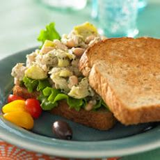 Mediterranean Tuna Salad Sandwich Recipe | So yummy | Pinterest